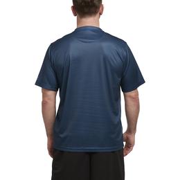 Men's Printed Heather Engineered Stripe Crewneck T-Shirt