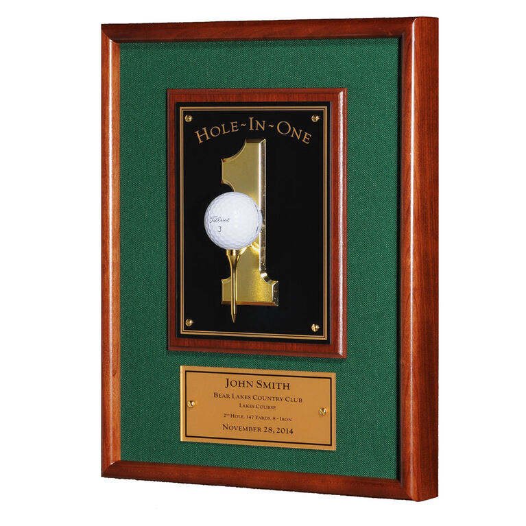 Morell Hole In One Plaque - Forest Green
