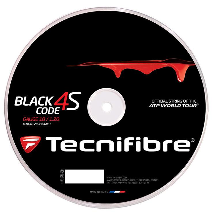 Tecnifibre Black Code 4S 18 Gauge String Reel - Black