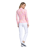 Alternate View 2 of Fun in the Sun Collection: Leopard Print Long Sleeve Quarter Zip Pull Over