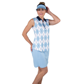 Alternate View 2 of Cape May Powder Collection: Sleeveless Argyle Polo Shirt