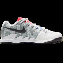 NikeCourt Air Zoom Vapor X Women's Tennis Shoe - Grey/Red