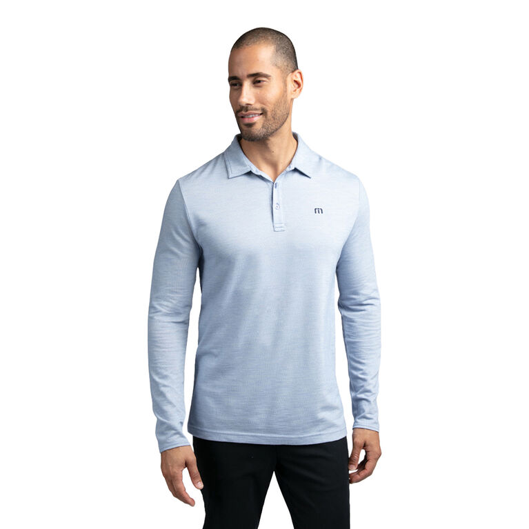 Real Eye Catcher Long Sleeve Heathered Polo