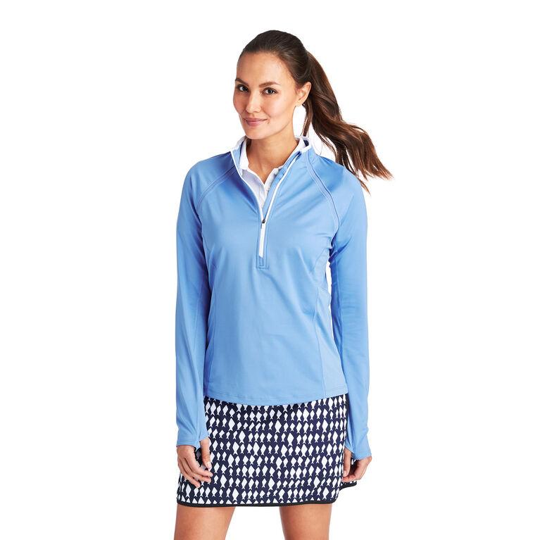 Solid 1/2-Zip Pullover