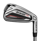 King F9 Silver/Black 5-PW, GW Iron Set w/ Steel Shafts