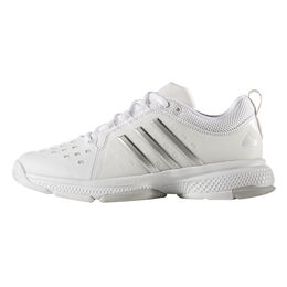 adidas Barricade Classic Bounce Women's Tennis Shoe - White/Silver