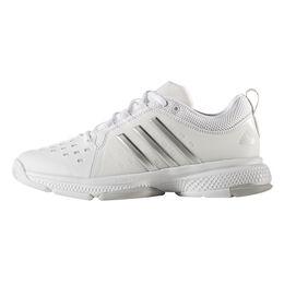 adidas Barricade Classic Bounce Women's Tennis Shoe - White/Silver