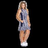 Alternate View 1 of Aspen Ray Collection: Nabila Palm Print Sleeveless Dress