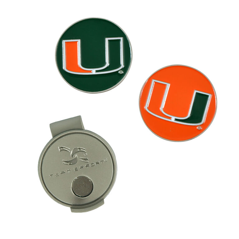 Team Effort Miami Hurricanes  Hat Clip