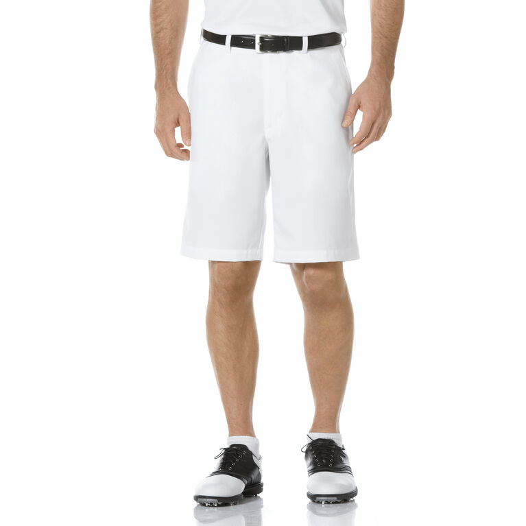 PGA TOUR Flat Front Solid Performance Short - White