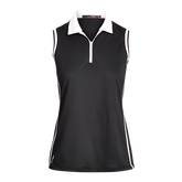 Alternate View 4 of Sleeveless Contrast Collar Sustainable Quarter Zip Pull Over