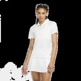 Nike Dri-FIT Women's Grid Print Short Sleeve Polo Shirt