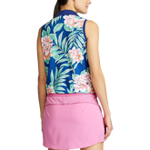 Alternate View 2 of Island Floral Sleeveless Polo Shirt