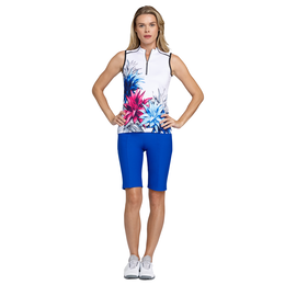 Italian Holiday Collection: Jewel Sleeveless Flower Print Top