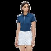 Mona Short Sleeve Side Print Polo Shirt