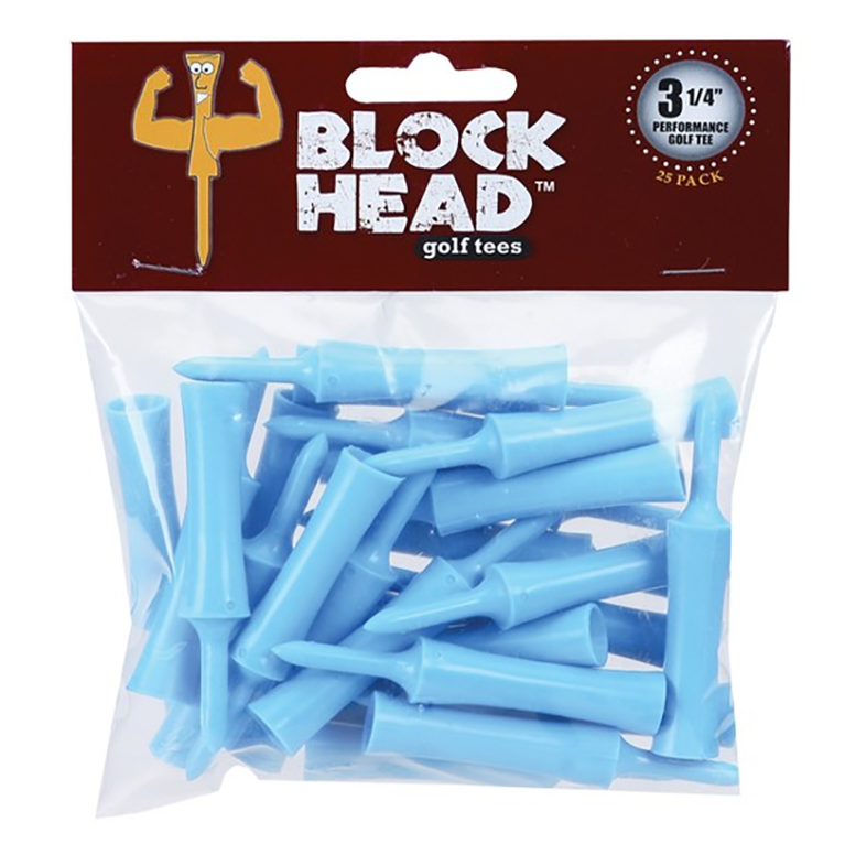 "Block Head Tees - 3 1/4"""