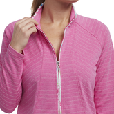Alternate View 1 of Cheeky Collection: Long Sleeve Printed Trim Full Zip Jacket