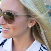 Alternate View 1 of Silver Golf Ball Earrings