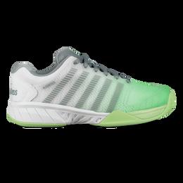Hypercourt Express Women's Tennis Shoe - White/Green