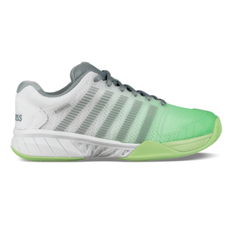 Hypercourt Express Women's Tennis Shoe - White/Green