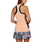 Alternate View 1 of Calypso Collection: Racerback Sleeveless Inset Print Tank Top