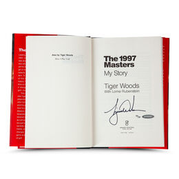 """Tiger Woods Autographed Book """"The 1997 Masters: My Story"""""""