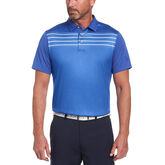 Linear Full Frontal Print Short Sleeve Golf Polo Shirt