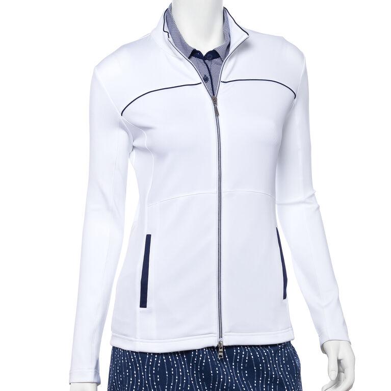 Silver Streak: Long Sleeve Full Zip Jacket