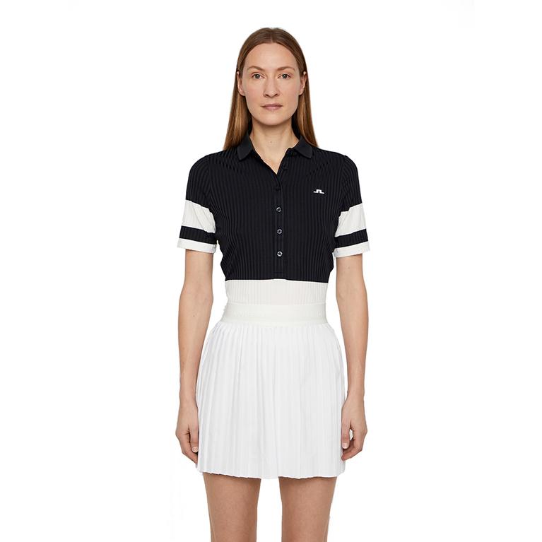Natasha Short Sleeved Colorblock Polo Shirt