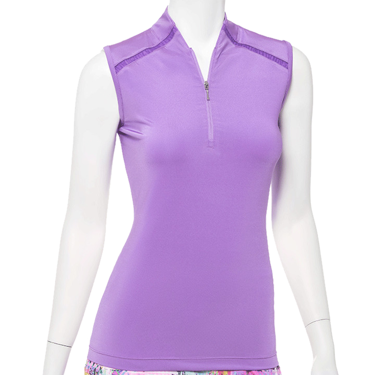 True Colors Collection: Sleeveless Ribbon Collared Top
