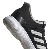Alternate View 8 of Adizero Club Kids Tennis Shoe - Black/White