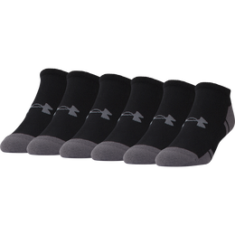 Under Armour Resistor 3.0 No-Show Socks - 6 Pack