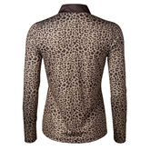 Alternate View 1 of Cold Group: Leonora Long Sleeve Leo Print Polo