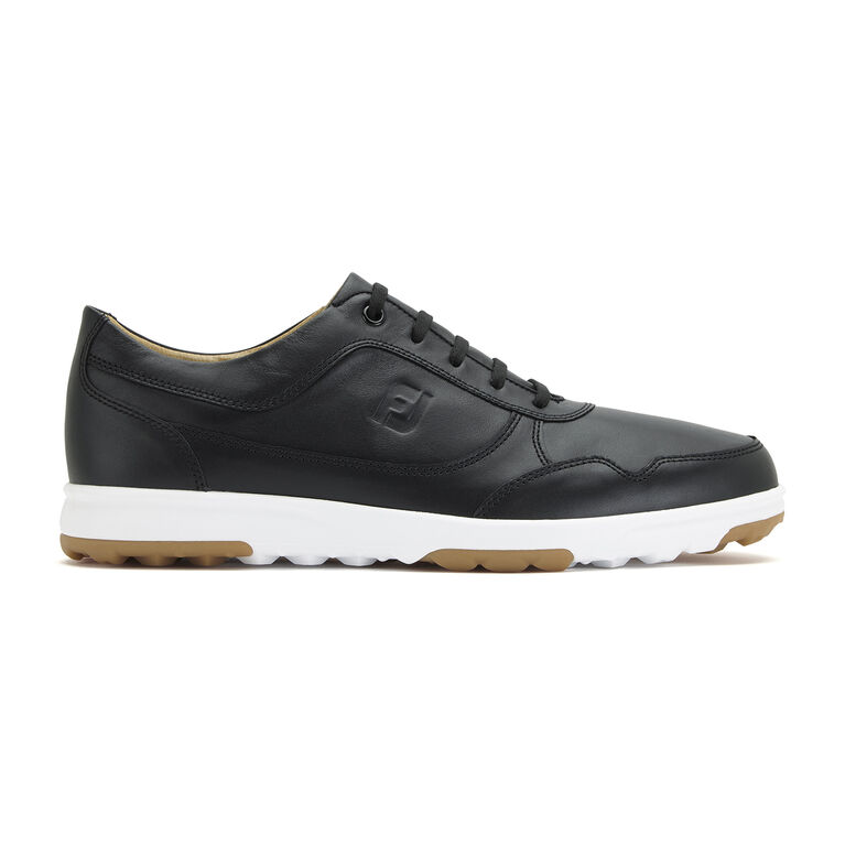 FootJoy Golf Casual Leather Men's Golf Shoe - Black