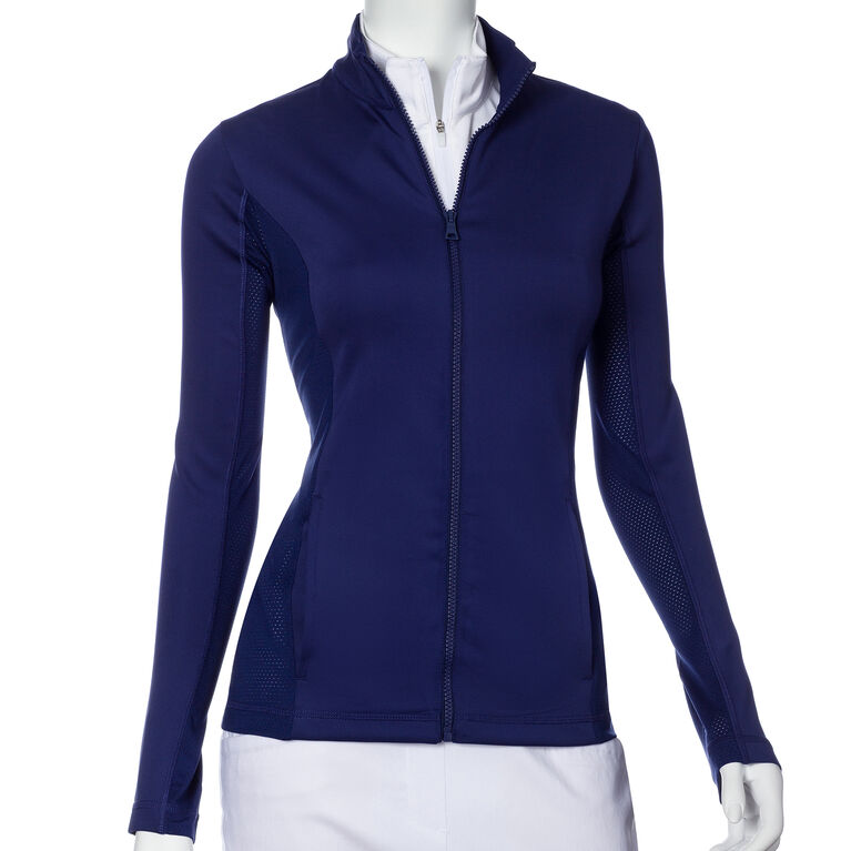 Treasure Island Group: Long Sleeve Water Resistant Double Knit Jersey Jacket