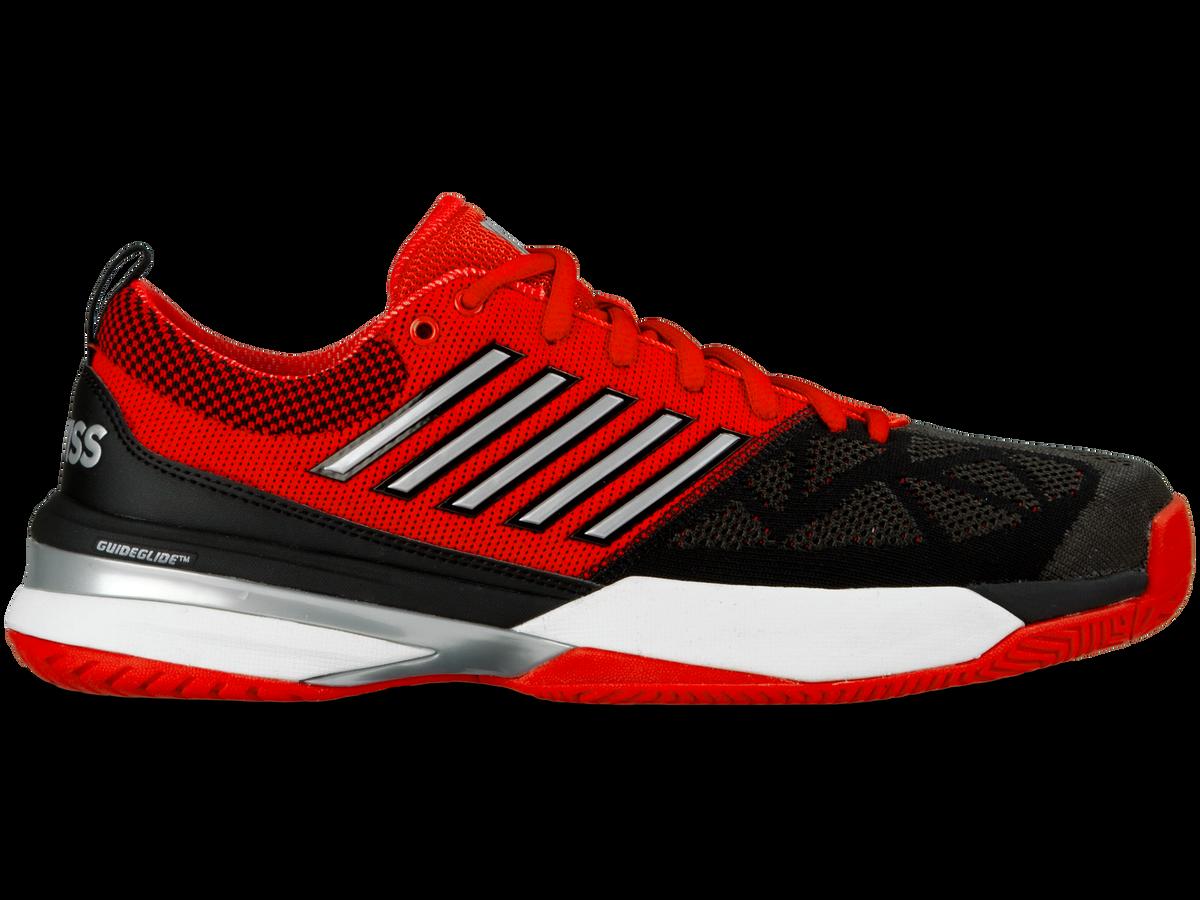 K-Swiss Knitshot Men s Tennis Shoe - Red Black 3888419b0ce