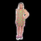 Mystic Sleeveless Palm Print Scallop Dress