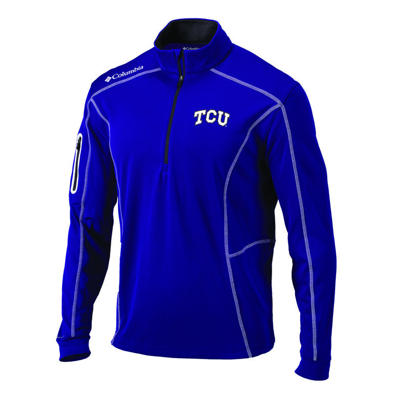 Columbia TCU Shotgun Golf 1/4 Zip