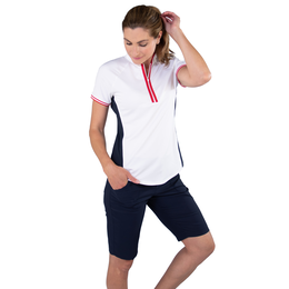 Cape May Collection: Short Sleeve Colorblock Raglan Mock Top