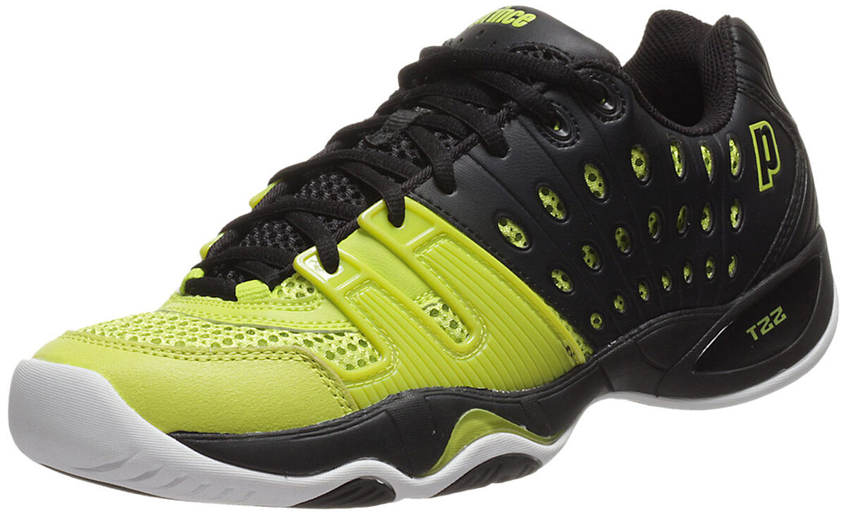 f6f7368db38a Prince Men s T-22 Men s Tennis Shoe - Black Electric Green
