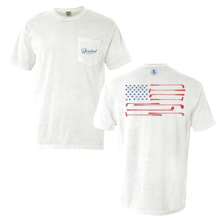 Barstool Golf Flag Pocket T-Shirt