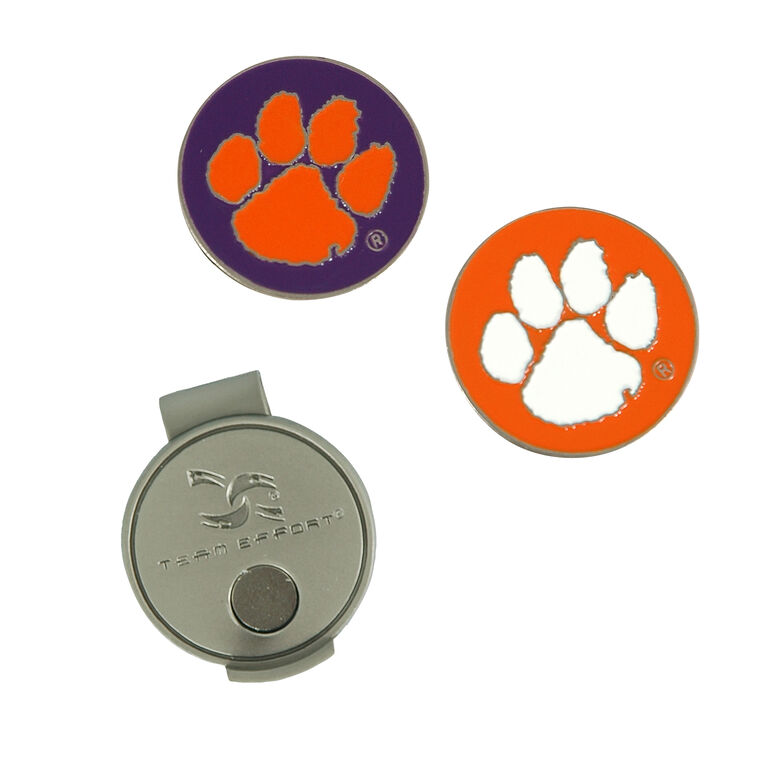Team Effort Clemson Tigers Hat Clip