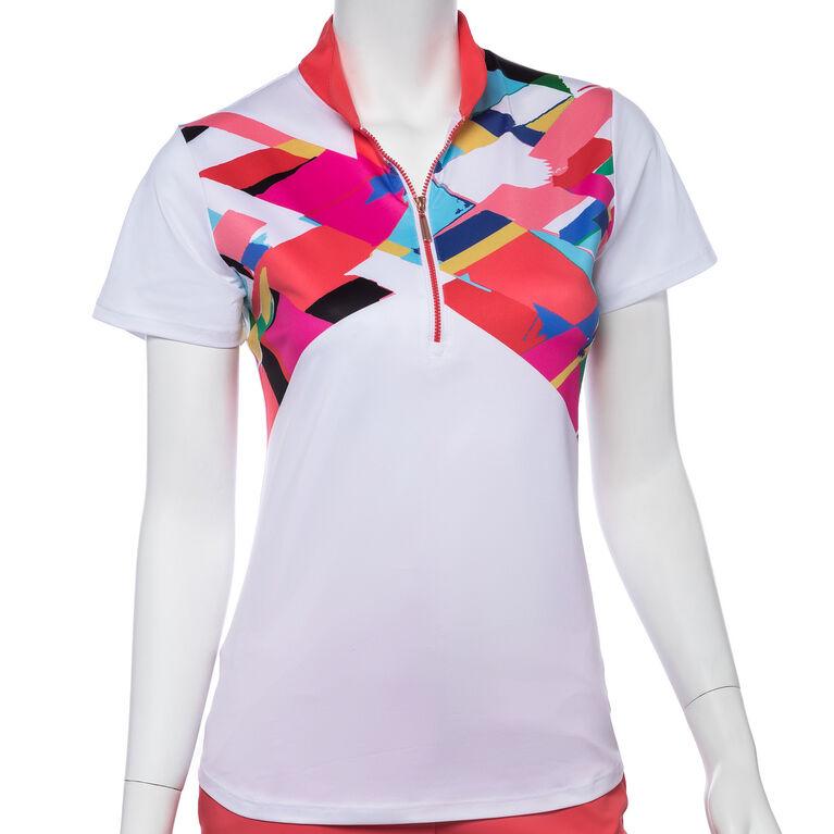 Shangri La: Short Sleeve Crosshatch Polo
