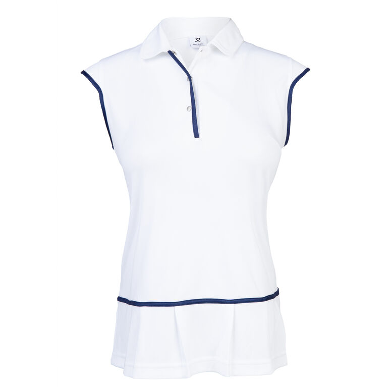 Dawn Group: Frida White Sleeveless Polo