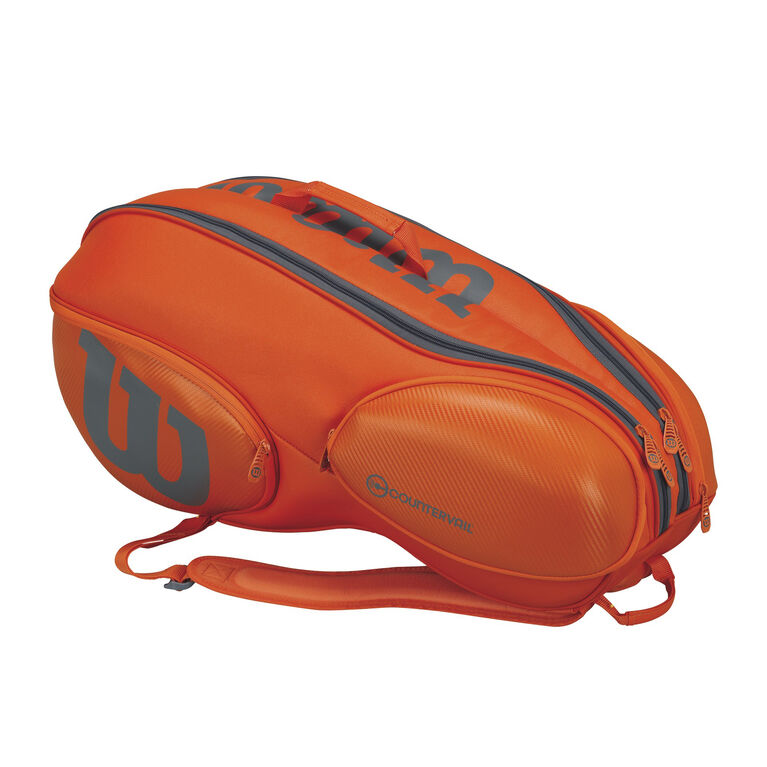 Wilson Burn 9 Pack Bag - Orange/Grey