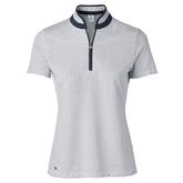 Feminine Sport Collection: Talia Short Sleeve Jacquard Mock Polo Shirt