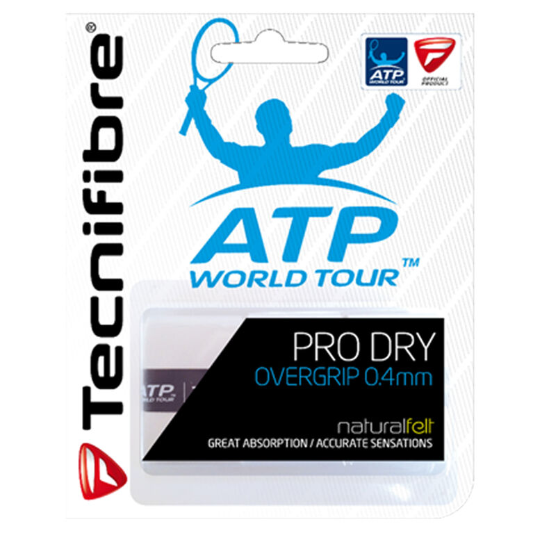Tecnifibre Pro Dry Overgrip 3 Pack White