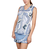 Bluemoon Collection: Marble Print Tennis Tank Top