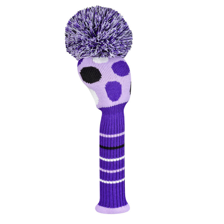 Just 4 Golf Large Multi Dot Purple Driver Headcover