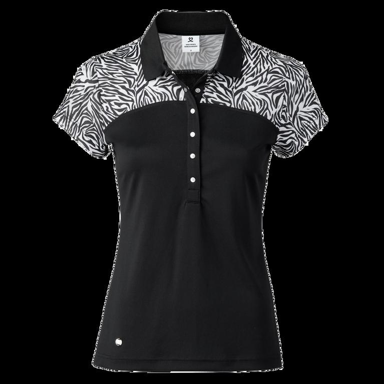 Zillian Print Yoke Short Sleeve Polo